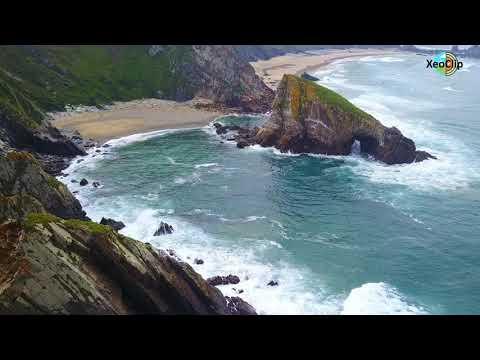 XeoClip fai un repaso pola riqueza xeolóxica e paisaxística do país a vista de dron