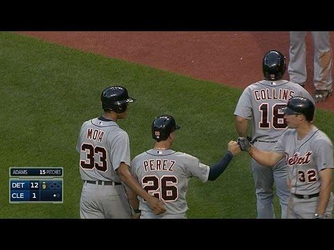 DET@CLE: Tigers hit five home runs against Indians