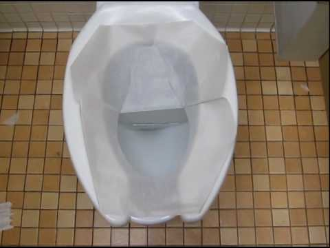 The Proper Way to Put on a Toilet Seat Cover   YouTube