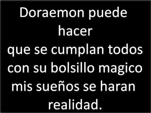 Cancion de Doraemon en español con letra
