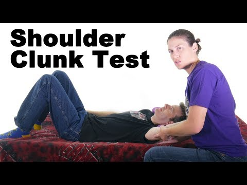 Clunk Test for Shoulder Labral Tear - Ask Doctor Jo