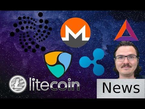 Friday News Roundup - BAT, IOTA, Ripple, Monero, NEM, Litecoin