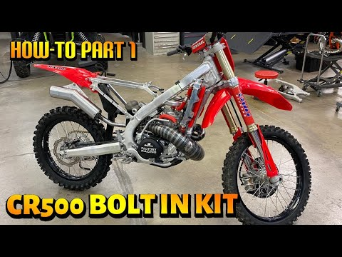 HONDA CR500R Bolt In Kit Install – HOW TO – 2021 2022 CRF450R Chassis  PART 1