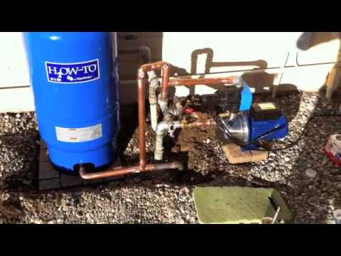 Booster pump & pressure tank - Harbor Freight.m4v - YouTube