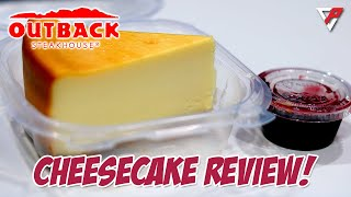 Outback Steakhouse Raspberry Cheeṡecake Review. Was it good?