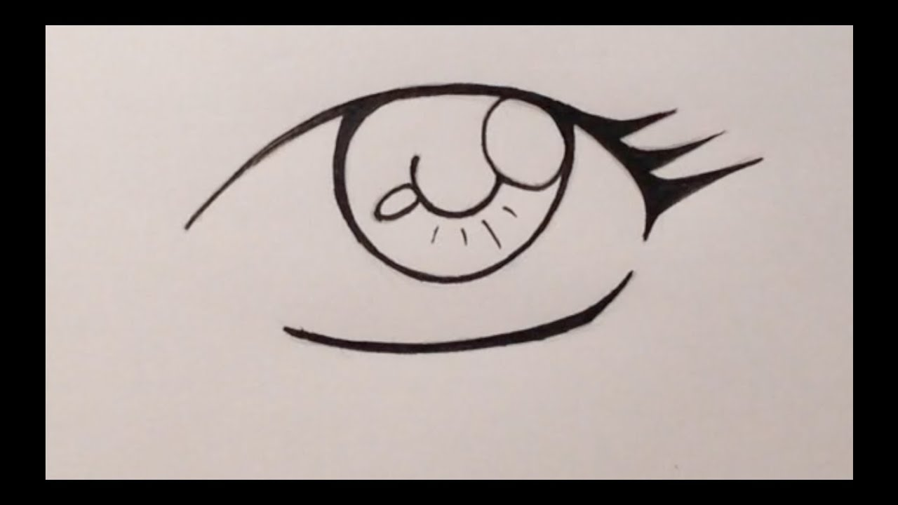 How To Draw Manga Eyes - Beginners (easy Way) - YouTube