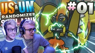 TAPU KOKO WANTS TO FIGHT! (Pokemon USUM Randomizer Soul Link • #01 • w/ FeintAttacks)
