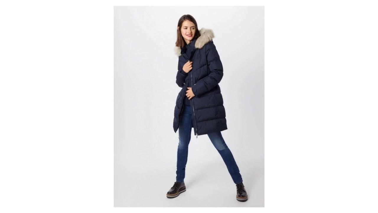 e5b901a733 TOMMY HILFIGER Zimní kabát 'ALANA DOWN COAT' noční modrá - YouTube