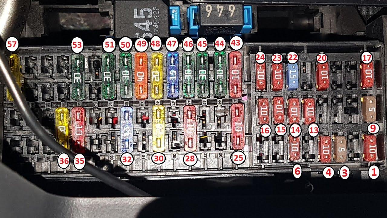[FPWZ_2684]  2018 VW Passat GT - Fuse box location & diagram - YouTube | Vw Fuse Block Diagram |  | YouTube