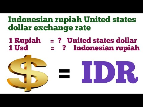United States Dollar To Indonesian Rupiah Exchange Rate Today | Usd To Idr | Idr To Usd