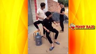 Best funny video 2018 by funny Raxi #10 Korean jokes  pantomime theatre  banter, jokes  funny situat