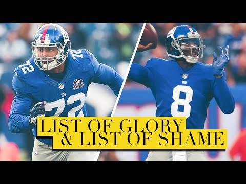 New York Giants List of Glory & List of Shame For Their First Preseason Game Against The Steelers