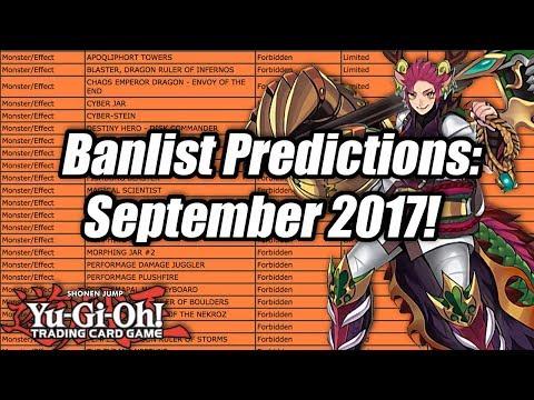 Yu-Gi-Oh! Banlist Predictions: September 2017!