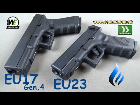 WE Airsoft Pistols EU17 Gen.4 + EU23 GBB 6mm