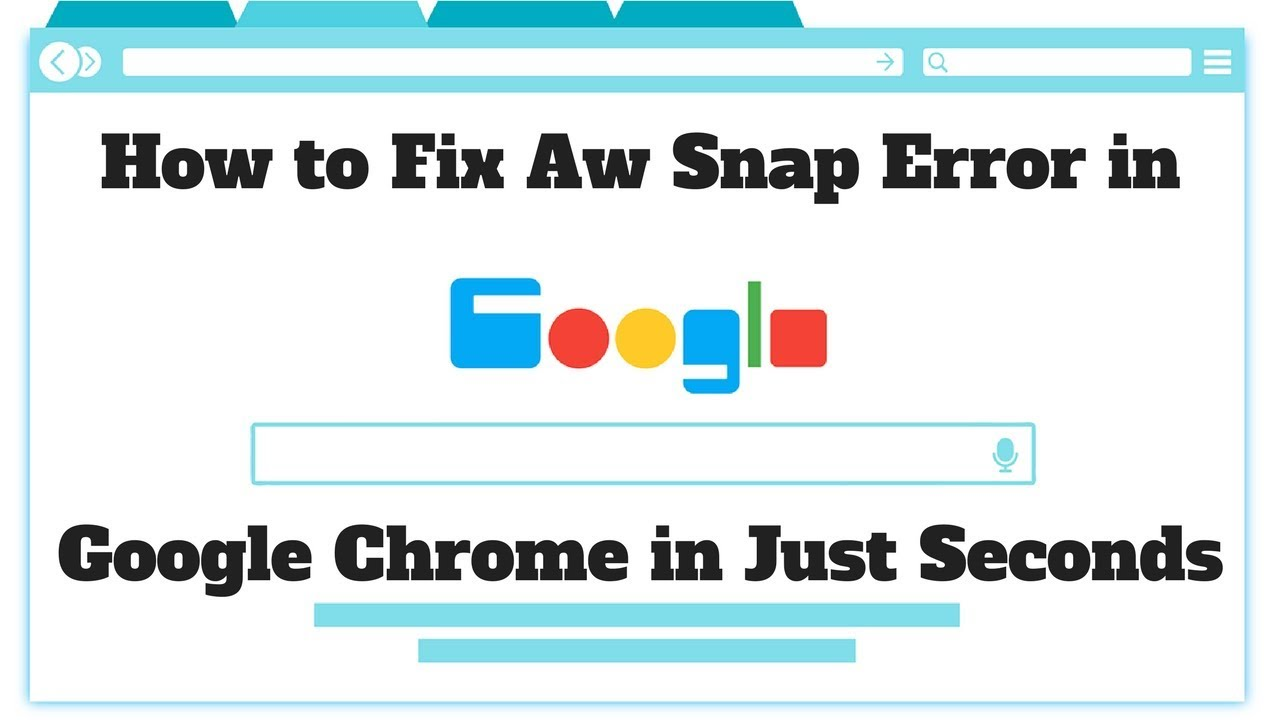 How to Fix Aw Snap Error in Google Chrome in Seconds 2019 100% Working