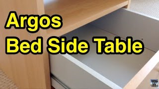 Argos Malibu Bedside Table Quick Build