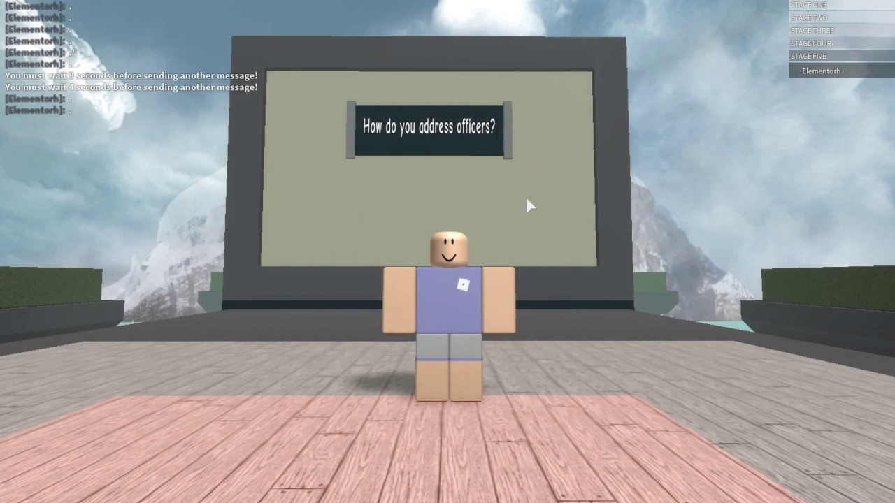 All Answers For Roblox Cadet Conscription (April 18 2018