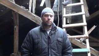 Волонтеры  Ремонт крыши ДК Ветеранов(23 февраля 2015 года, Порошенко прислал