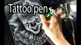 Drawing Pennywise IT with a Tattoo Machine - DP Truong