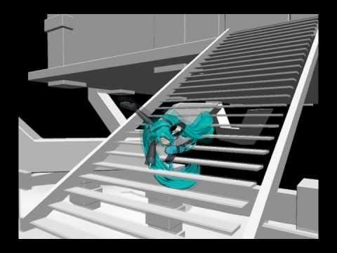 【MMD】 Miku Falling down Stairs(Family Guy) meme