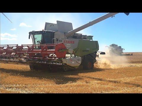 Getreideernte 2018 •Gerste 2018 •Harvest 2018 •Moisson 2018 •2 Claas Lexion 580/760 •John Deere 2/2