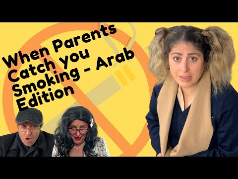 When Parents Catch you Smoking in School - Arab Edition