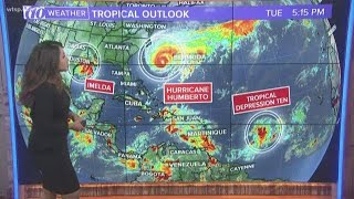 Keeping an eye on Tropical Storm Imelda, Hurricane Humberto, and Tropical Depression 10