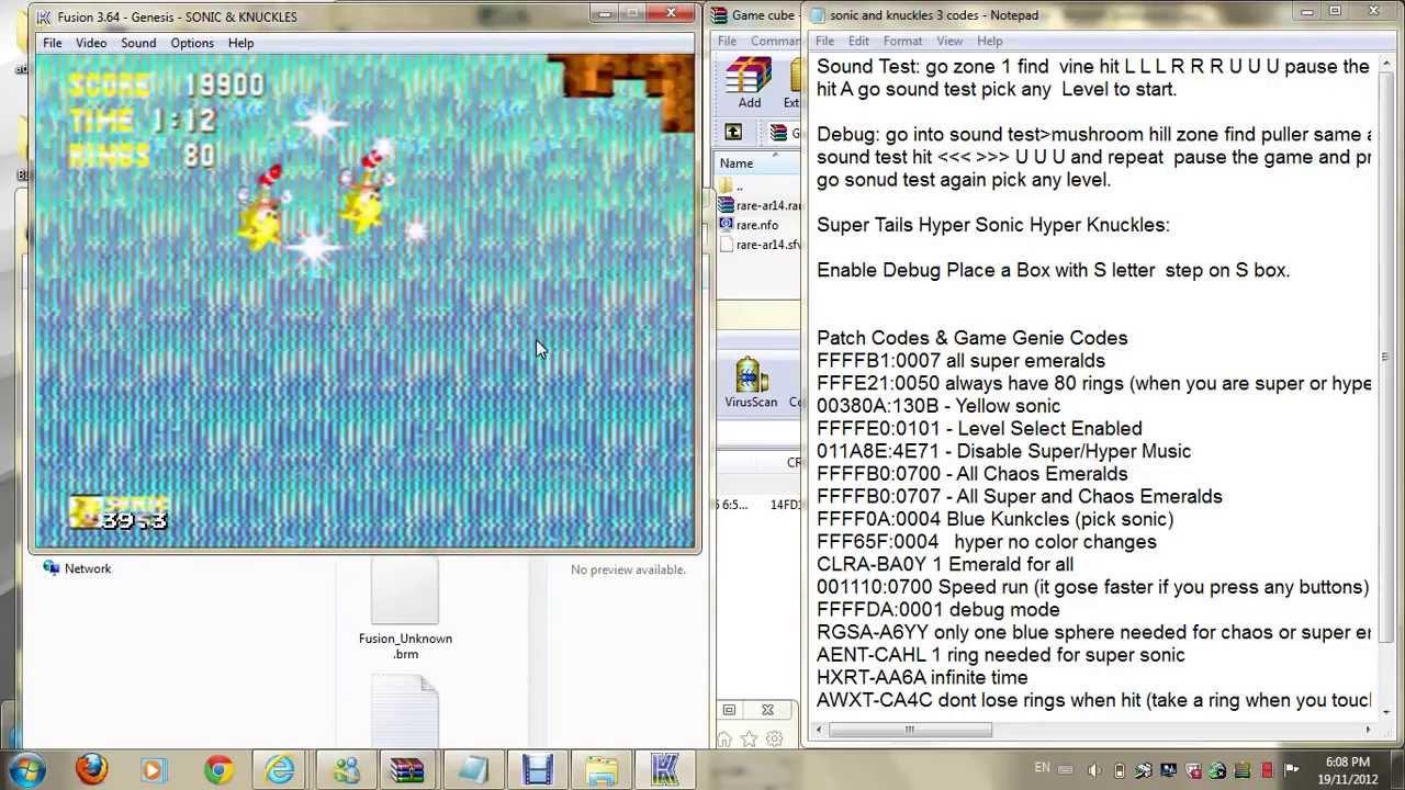 Rings Sonic  Game Genie
