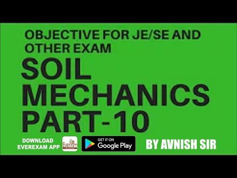 SOIL MECHANICS PRE YEAR QUESTION SSC JE CIVIL PART-10|AE|OTHER COMPETITIVE EXAM