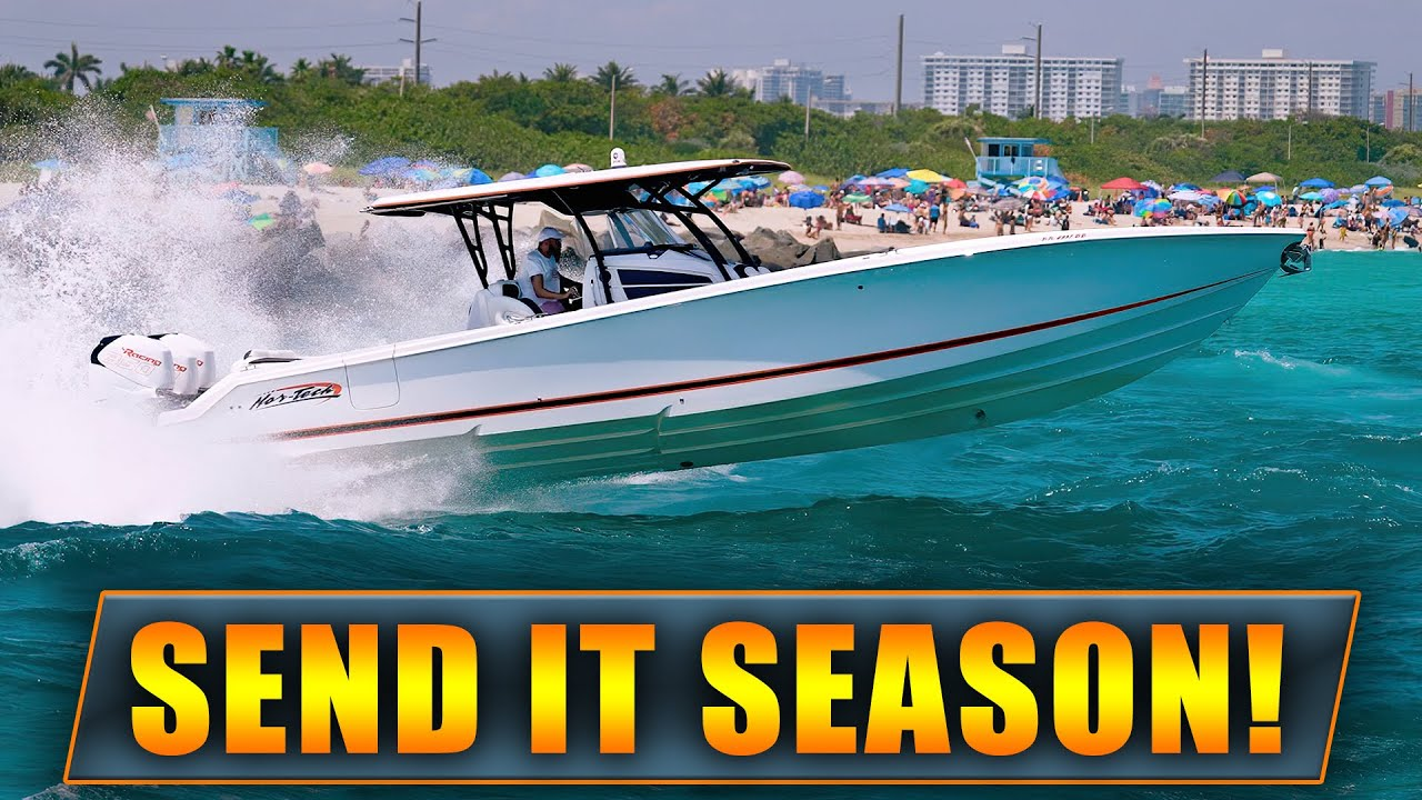 BOATS CRUSHING HAULOVER INLET! | HAULOVER BOATS | WAVY BOATS