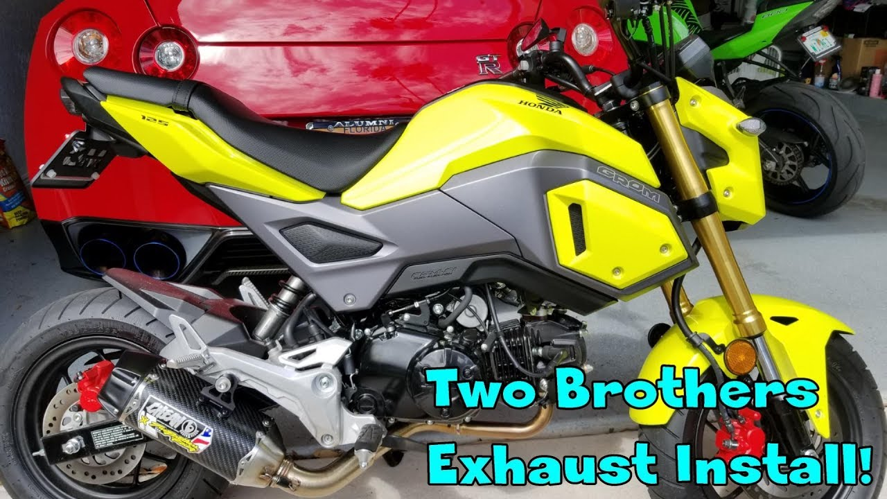 Two Brothers Exhaust install on my 2018 Honda Grom!