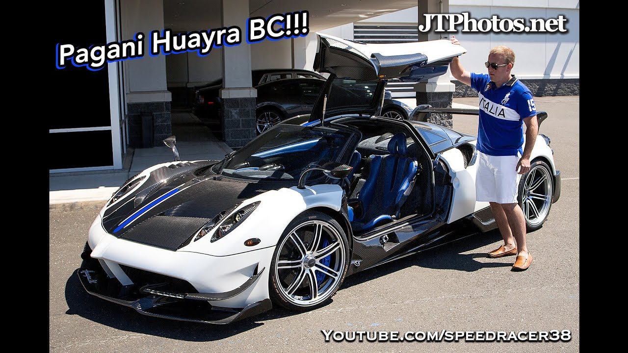 First look at the first Pagani Huayra BC in the USA! - YouTube