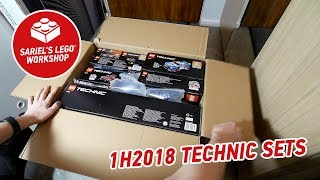 LEGO all 1H2018 Technic sets unboxing