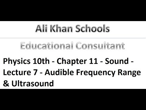 Physics 10th - Chapter 11 - Sound - Lecture 7 - Audible Frequency Range & Ultrasound