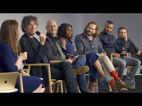 American Gods Cast Interview with Neil Gaiman, Bryan Fuller, Ian McShane, Ricky Whittle