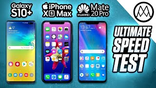 Samsung S10 Plus vs iPhone XS Max / Mate 20 Pro - Speed Test!
