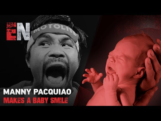 Manny Pacquiao stops the car to make a baby smile check it out