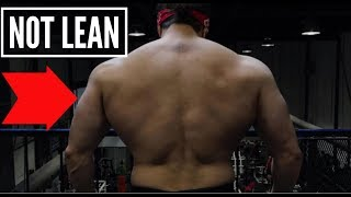 Why You SHOULDN'T Be Lean If You Want To Build Muscle