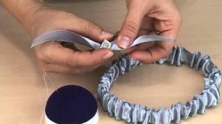 Классическая свадебная подвязка (www.SvadbaHit.ru)