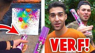 VERF SCHIETEN MET PARTY POPPERS! (Met Aarthos)