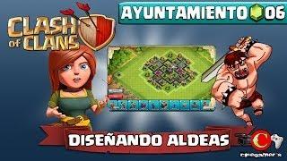 Clash of Clans #LunesdeDiseñandoAldeas (Ayuntamiento Nivel 6) Proteger Trofeos/Copas Modelo #2