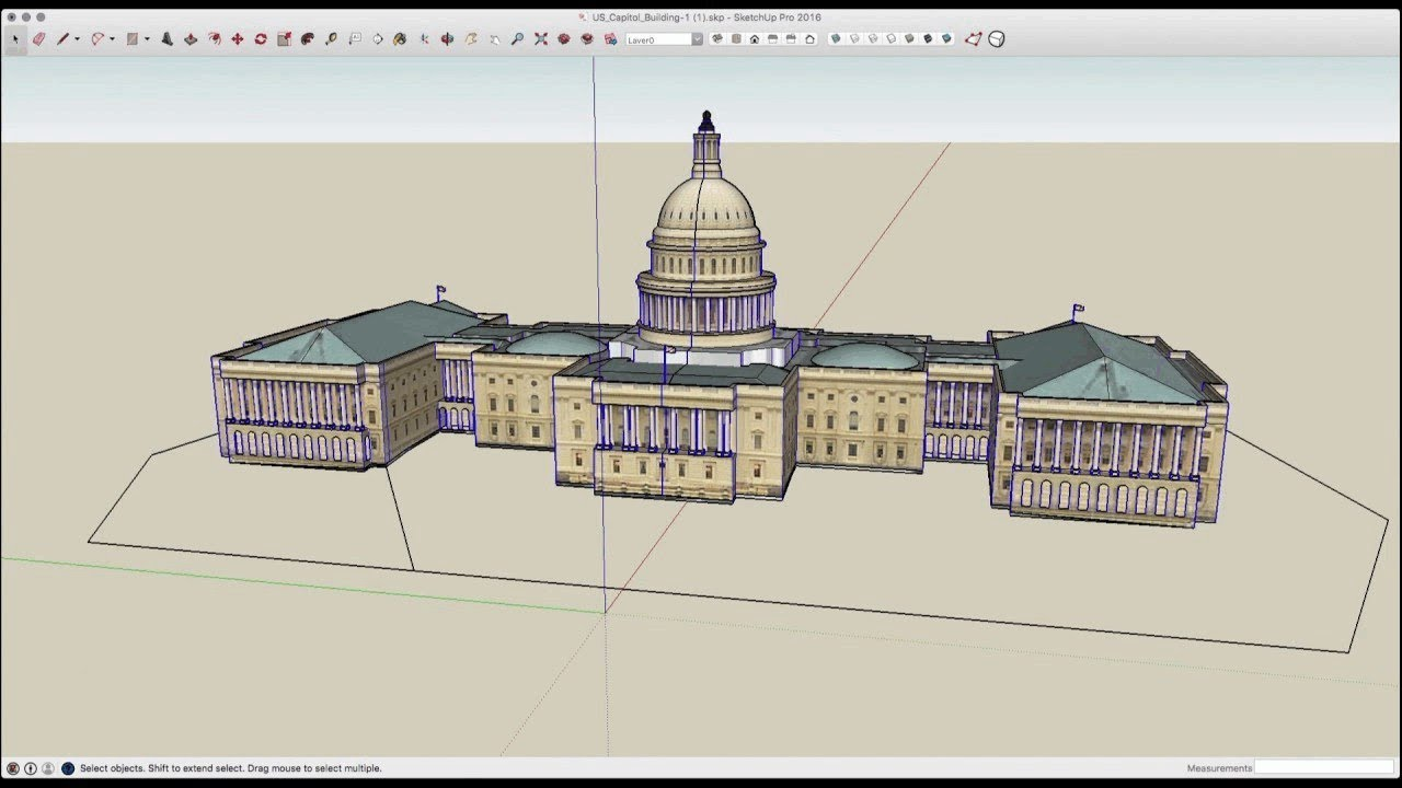 Speed Modeling Us Capitol Building Youtube
