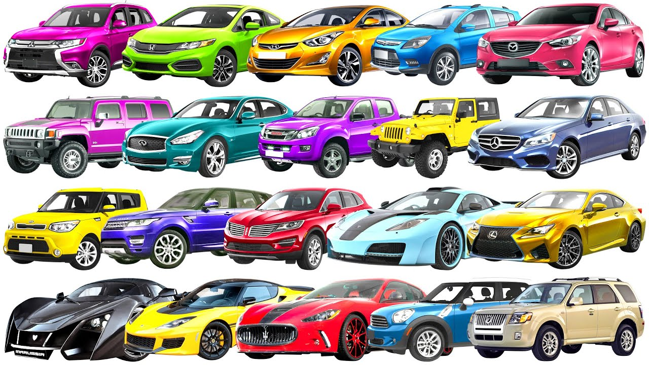 H to M  Brand of cars Names of cars. Street vehicles names for kids. Transportation to children