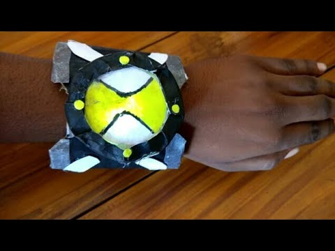 DIY Ben 10 Omnitrix with Light - Paper and Cardboard | How To Make Ben 10's Homemade Omnitric