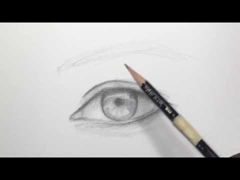 How to Draw an Eye with only one Pencil