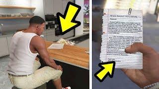 Gta 5 Dieser Brief Beweist Cj Ist Franklins Vater