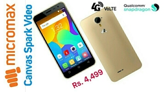 Micromax Spark Vdeo 4G VoLTE @ 4499 [Hindi]