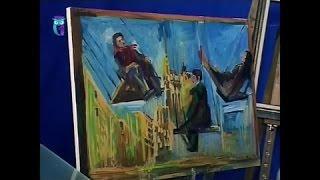 """Уроки рисования (№ 146). Рисуем картину """"Качели на Триумфальной площади"""""""