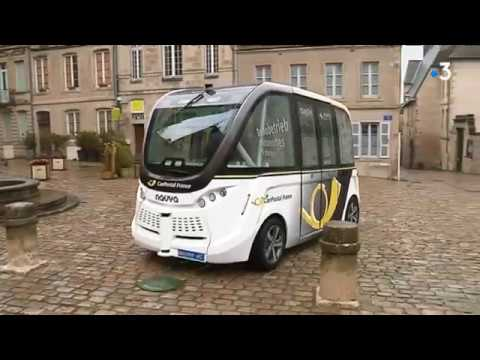 Saône-et-Loire : la ville d'Autun expérimente une navette sans chauffeur - - France 3 Bourgogne-Franche-Comté