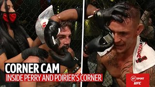 """You look great babe!"" Corner Cam: What Mike Perry's girlfriend and Poirier's coaches told them"